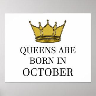 Königinnen sind im Oktober geboren Poster