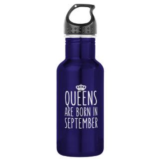 Königinnen sind im September geboren Edelstahlflasche