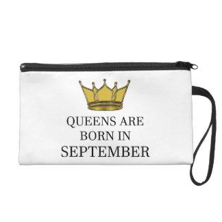 Königinnen sind im September geboren Wristlet Handtasche