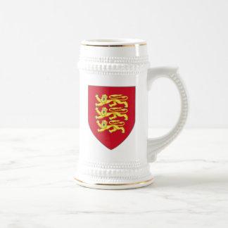 Königliche Arme Stein Englands Bierglas