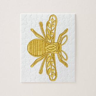 königliche Biene, Nachahmung der Stickerei Puzzle