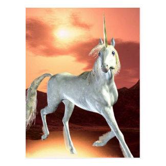 Königliche Einhorn-Postkarte Postkarte