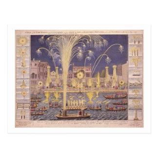 Königliche Feuerwerke Postkarte