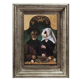 Königliche Hamster-Familien-gerahmte Postkarte