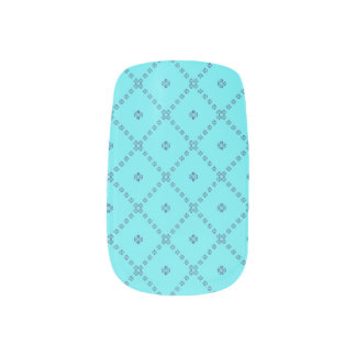 Königliche hellblaue Nagel-Verpackungen Minx Nagelkunst