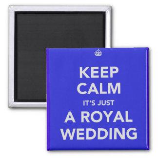 Königliche Hochzeit - Kate u. William - 29. April  Quadratischer Magnet
