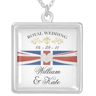 Königliche Hochzeit - William- u. Halskette Mit Quadratischem Anhänger