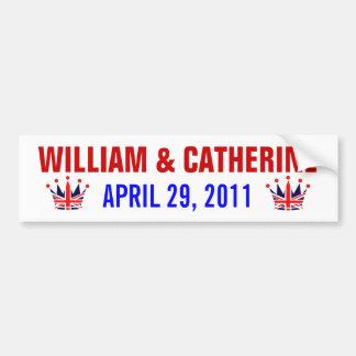 Königliche Hochzeit Williams u. Catherine Autoaufkleber