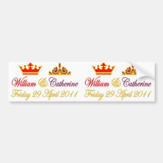 Königliche Hochzeit Williams und Catherine Autoaufkleber