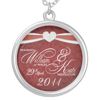 Königliche Hochzeits-Andenken - William- u. Halskette Mit Rundem Anhänger
