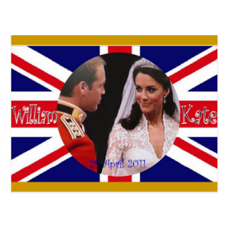 Königliche Hochzeitspostkarten Williams und Kate Postkarte