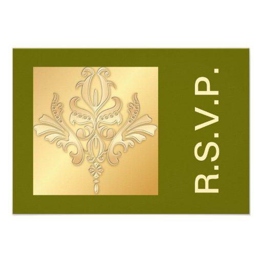 Königliche Jubiläum-Damast UAWG Karte Personalisierte Einladungen | Zazzle