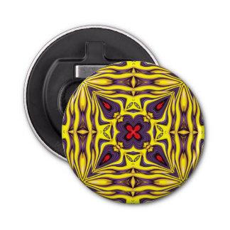 Königliche Kaleidoskop-    magnetische Runder Flaschenöffner