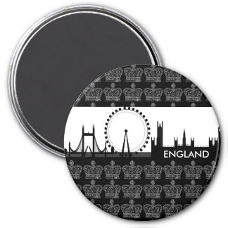 Königliche Krone London, England Magnet Runder Magnet 7,6 Cm