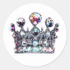 Königliche Kronenaufkleber Runder Aufkleber
