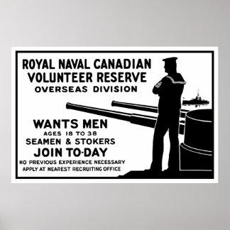 Königliche Marinekanadier-Freiwillig-Reserve Poster