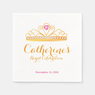 Königliche Papierserviette Prinzessin-Celebration