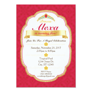 Königliche Party Einladung Prinzessin-Celebration