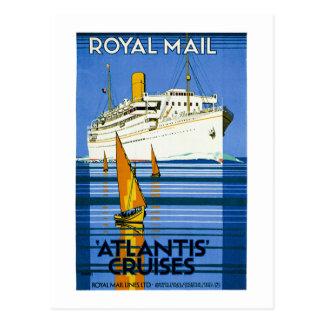 Königliche Post Atlantis kreuzt Vintag Postkarte