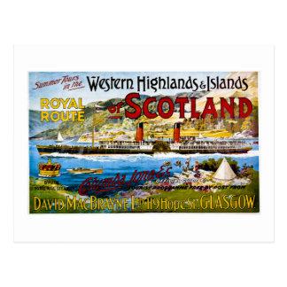 Königliche Post-Dampfer Schottland Glasgow Vintag Postkarte