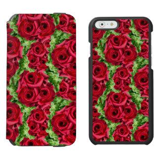 Königliche Rosen-königliche Romance hochrote Incipio Watson™ iPhone 6 Geldbörsen Hülle