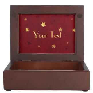 Königliche rote goldene Sterne Erinnerungsdose
