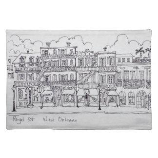 Königliche Straße   New Orleans, Louisiana Stofftischset
