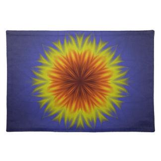 Königliche Sun-Blume Stofftischset