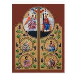 Königliche Tür-Gebets-Karte Postkarten