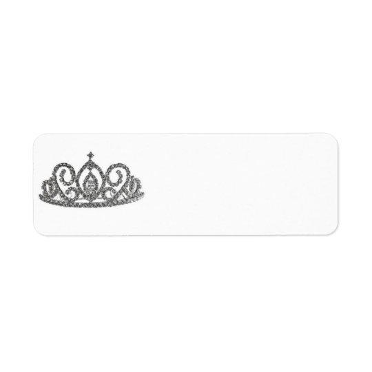 Königlichen WeddingBrides Tiara Rücksende Aufkleber