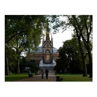 Königlicher Albert Hall und Denkmal Prinz-Albert Postkarte