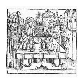Königlicher Alchemist im Schloss Leinwanddruck