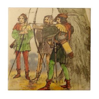 Königlicher Doulton Robin Hood Vintager Keramikfliese