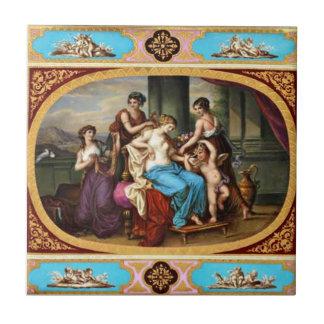 Königlicher Entwurfs-Fliesen-Amor und Mädchen Kleine Quadratische Fliese