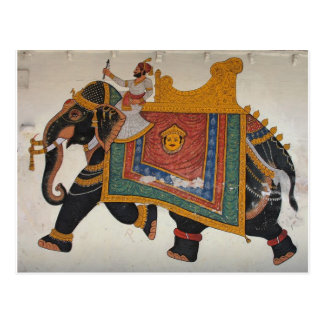 Königlicher indischer Elefant Postkarte