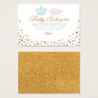 Königlicher Kronprinz Prinzessin Diaper Raffle Visitenkarte