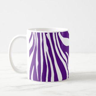 Königlicher lila Zebradruck Kaffeetasse