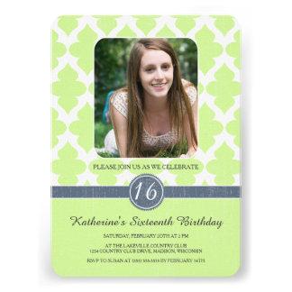 Königlicher Muster-16. Geburtstag-Geburtstag lädt Individuelle Ankündigung
