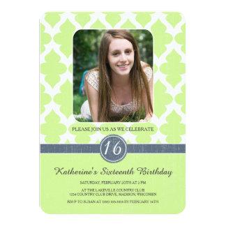 Königlicher Muster-16. Geburtstag-Geburtstag lädt 11,4 X 15,9 Cm Einladungskarte