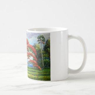 Königlicher Poinciana Baum Mazz Kaffeetasse