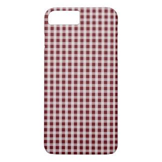 Königlicher Rosen-roter Gingham-Karo-kariertes iPhone 8 Plus/7 Plus Hülle