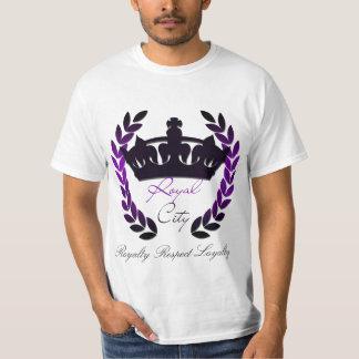 Königlicher Stadt-Respekt-grundlegendes T-Stück T-Shirt