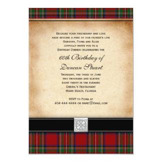 Königlicher Stuarttartan-60. Geburtstags-Party 12,7 X 17,8 Cm Einladungskarte