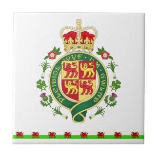 Königliches Abzeichen von Wales Fliese