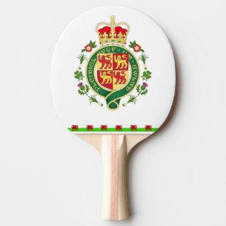 Königliches Abzeichen von Wales Tischtennis Schläger