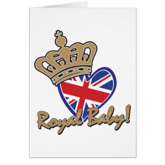 Königliches Baby-BRITISCHE Herz-Flagge Karte