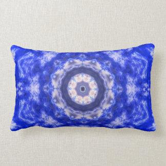 Königliches Blau-Spitze abstrakt Lendenkissen