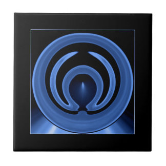 Königliches Blau-zeitgenössische abstrakte Kunst Fliese