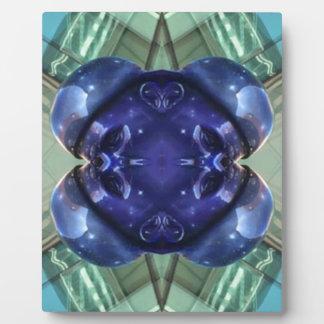 Königliches Blauaquamarine-modernes künstlerisches Fotoplatte