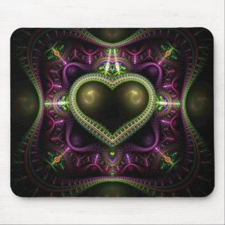 Königliches Herz-Fraktal Mousepad
